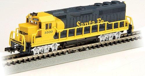 Gp40 Santa (Bachmann GP40 - Santa Fe (Yellow And Blue) Locomotive - N Scale)