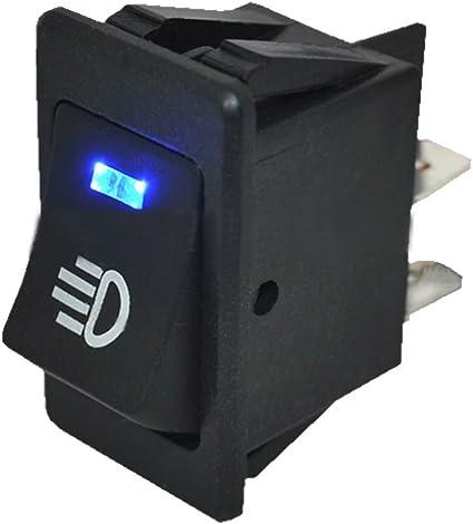 Mintice/™ Interrupteur /à Bascule Commutateur Lampe Lumi/ère LED Bleu 12V 20A pour Voiture Bateau Moto Fog Light