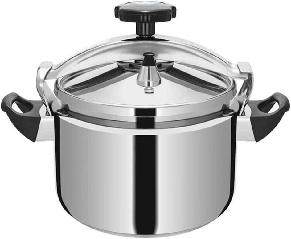 Pressure cooker 304 stainless steel household cooking pot commercial safety explosion-proof pressure cooker gas stove induction cooker general 5L-15L (Color : Silver, Size : 9L)