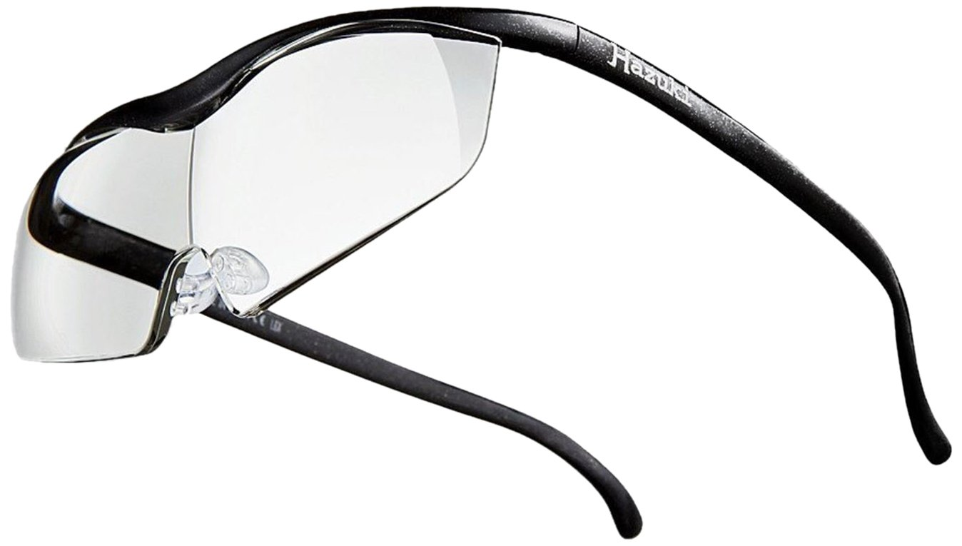 Hazuki rupe Large Clear Lens 1.6 times Black 2017 Model Blue Light 35% Cut