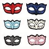 YUFENG 6Pcs/Set Multi Color Venetian Masquerade Mask Costume Halloween Cosplay Mask for Party/Ball Prom/Mardi Gras/Wedding/Wall Decoration