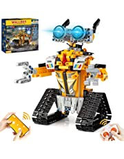 AoHu STEM Projects for Kids Ages 8-12, Remote & APP Controlled Robot Programmable Building Toys Gifts for Boys Girls Yellow