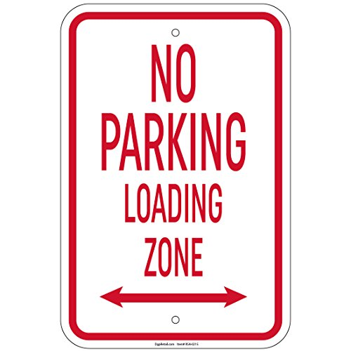 Arrow Sign Double (No Parking Loading Zone w/double arrow Sign 8