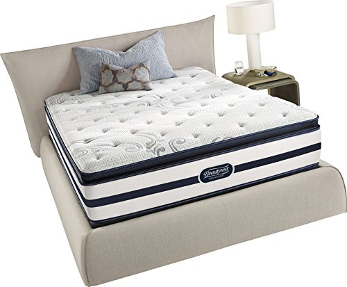 Simmons Beautyrest Recharge Plush Pillow Top King Mattress Pocketed Coil Gel Memory...