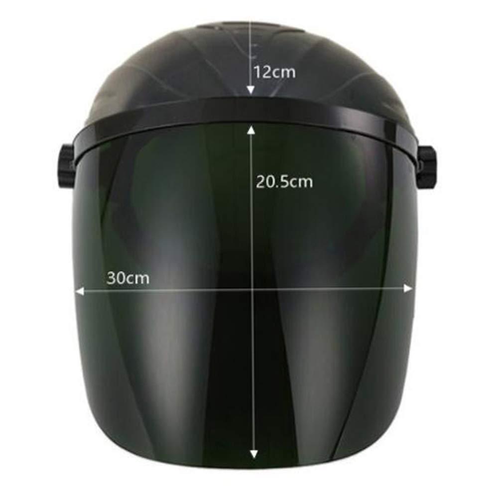 Ideale per Costruzioni Produzione GLJY Casco per Saldatura Automatica Maschera di Saldatura per Casco Anti-Urto Anti-UV Maschera per Visiera Trasparente Integrale