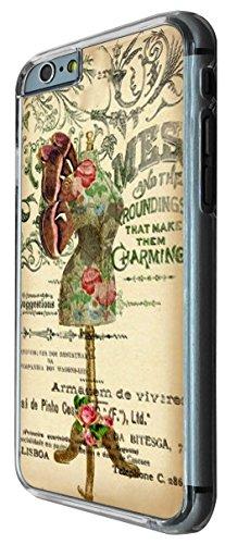535 - Vintage Shabby Chic Victorian Floral Roses mannequin Design iphone 6 6S 4.7'' Coque Fashion Trend Case Coque Protection Cover plastique et métal