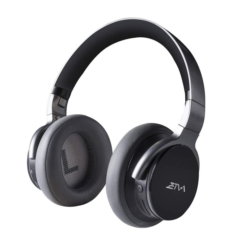 Auriculares Bluetooth Cancelacion de Ruido Activa Inalambrico 25H Play time con Microfono Zetva Over-Ear para Viaje Trab