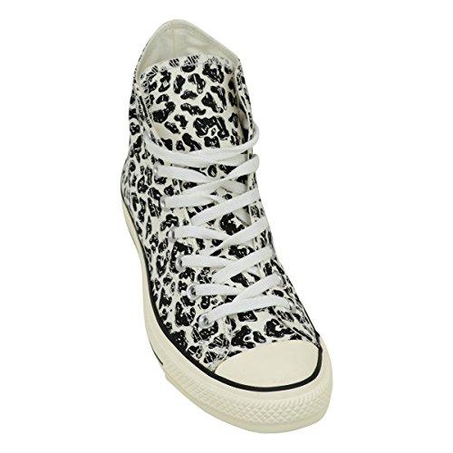 Zapatillas Converse Chuck Taylor All Star Hi Imprime Negro Mujer Natural Egret