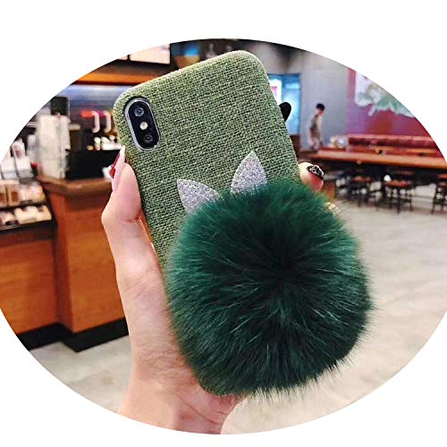 Soft Spoken Banner - Phone Case for iPhone X iPhone Xs MAX XR 7 8 6 6s Plus Cute Animal Plush Hair Warm Fur Ball Soft Cloth Mobile Back Cover,3,for iPhone 8