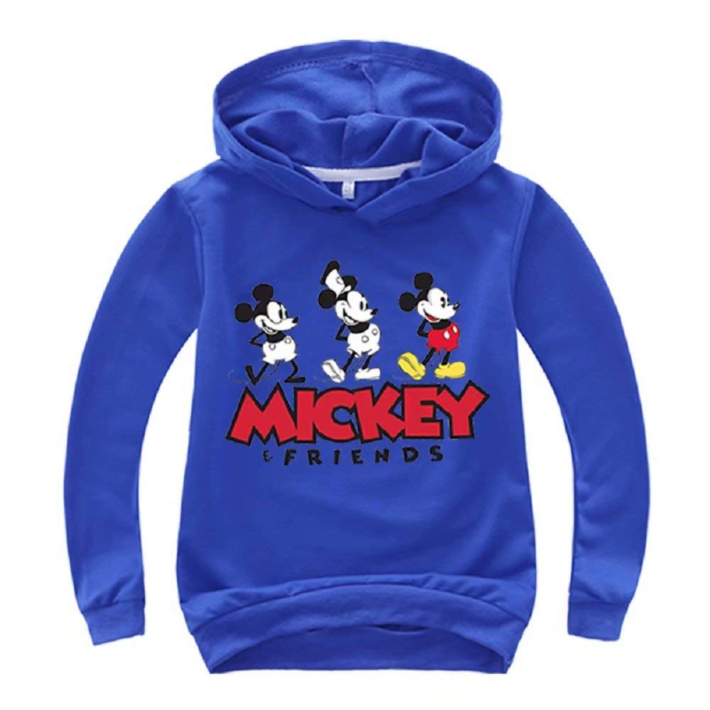 Happy angel Boys Girls Cartoon Mickey Hoodie Autumn Pullover Cotton Sweatshirt Classic Mouse Outwear
