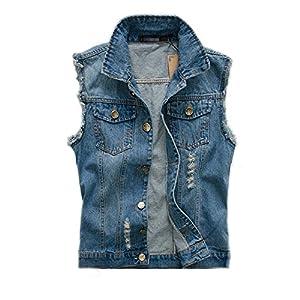 Men's Comfortable Stylish Sleeveless Outwear Denim Jeans Vest Jacket