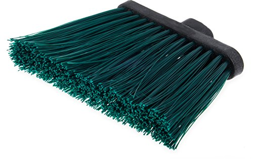 Carlisle 3686809 Duo-Sweep UnFlagged Angle Broom Head, 8'', Green by Carlisle