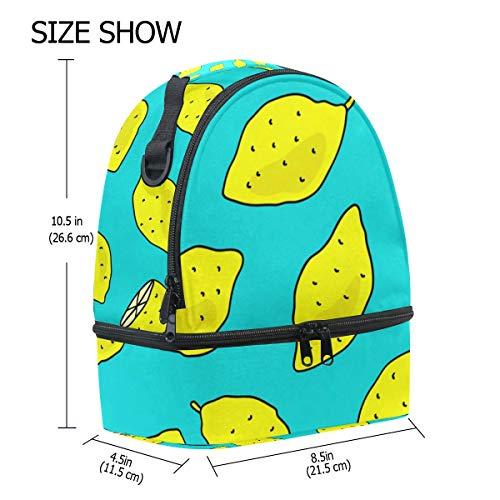 hombro escuela FOLPPLY para de el correa con limón ajustable Bolsa de aislamiento para pincnic la con de almuerzo SxSO7wZrqp