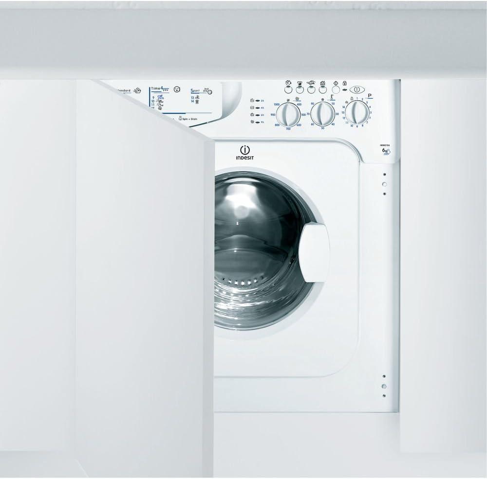 Indesit IWME 106 (EU) Integrado Carga frontal 6kg 1000RPM A+ ...