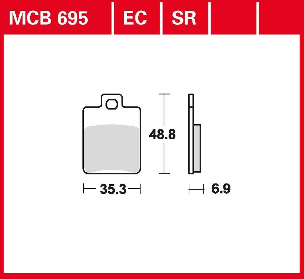 Bremsbelag TRW organischer Allround-Bremsbelag ET4 125 M04 96-99 vorne