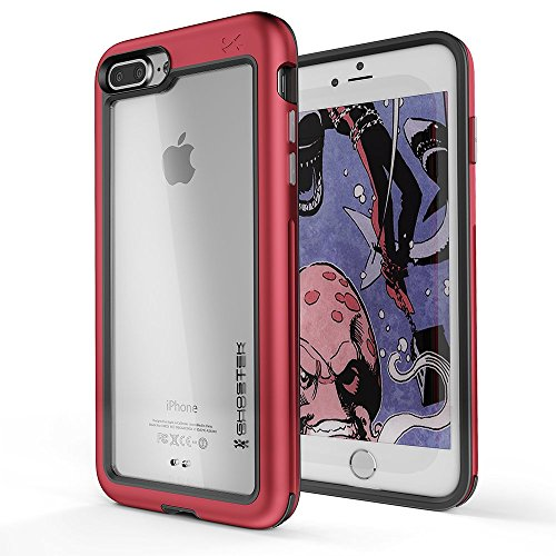 - Ghostek Atomic Slim Case Wireless Charging Compatible with iPhone 8 Plus / 7 Plus - Red