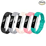 (US) LEEFOX Fitbit Alta HR and Alta Bands, Classic Accessory Band Fit Bit Alta HR and Alta Wristband Watch Buckle Replacement Strap for Original Fitbit Alta 2016/Fitbit Alta HR, 5 Packs Small(John1-12)