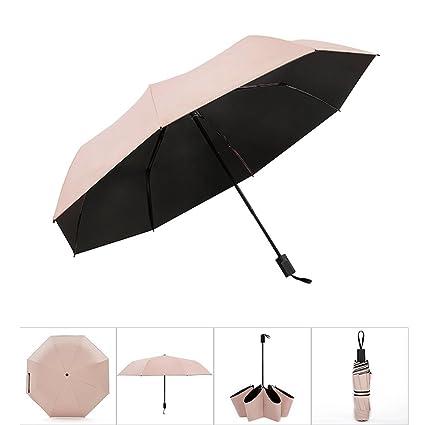 Paraguas Sombrilla Creativa Sombra Sombrilla Mujeres Sombrilla Vinilo Protección UV Sombrilla Tríptico QIQIDEDIAN (Color :