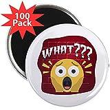 CafePress - Emoji Shocked Face What??? - 2.25'' Magnet (100 pack)