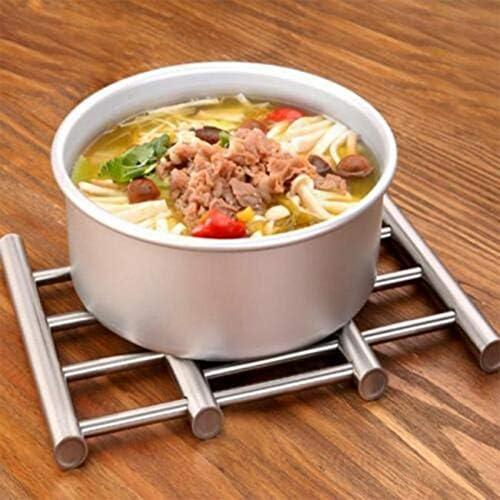 CVG Table en Acier Inoxydable Napperon Isolation Chaleur Plat Bol Support Pot Pan Coasters Table À Manger Tapis pour Cuisine