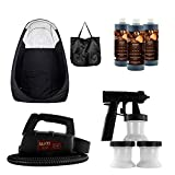 Maxi-Mist Lite Plus Sunless Spray Tanning KIT Tent Machine HVLP Airbrush Tan Maximist BLK