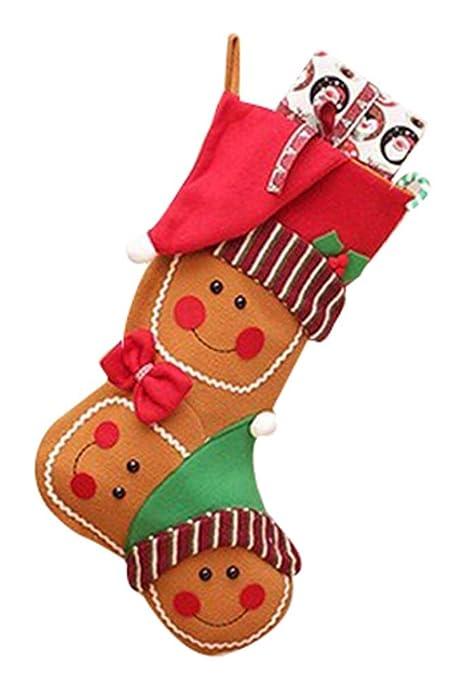 Personalidad creativa regalo calcetines de calcetines de Navidad bolsas de regalo decorativo bolsas de dulces