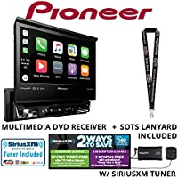 Pioneer AVH-3300NEX 7 Single Din DVD Receiver Apple CarPlay Built in Bluetooth with SiriusXM Satellite Radio Tuner SXV300v1 and a FREE SOTS Lanyard