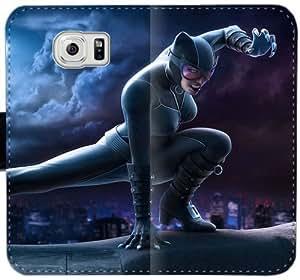 Caja del cuero de Catwoman B2V1L Funda Samsung Galaxy S6 funda W2yGKB Teléfonos Móviles Funda caso del tirón