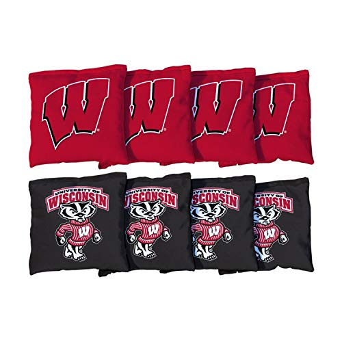 Victory Tailgate NCAA Collegiate Regulation Cornhole Game Bag Set (8 Bags Included, Corn-Filled) - Wisconsin Badgers