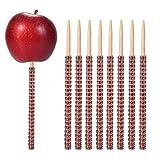 Rhinestone Bling Bamboo Candy Apple Sticks 6 inch
