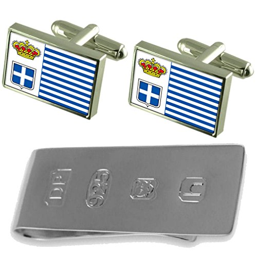 Seborga amp; Money James Bond Cufflinks Seborga Flag Clip Flag IzW5q
