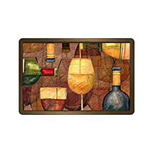 Wine Tasting Doormat Rectangular