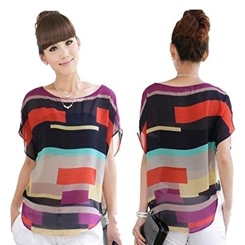 DDLBiz Summer Casual Chiffon T Shirt