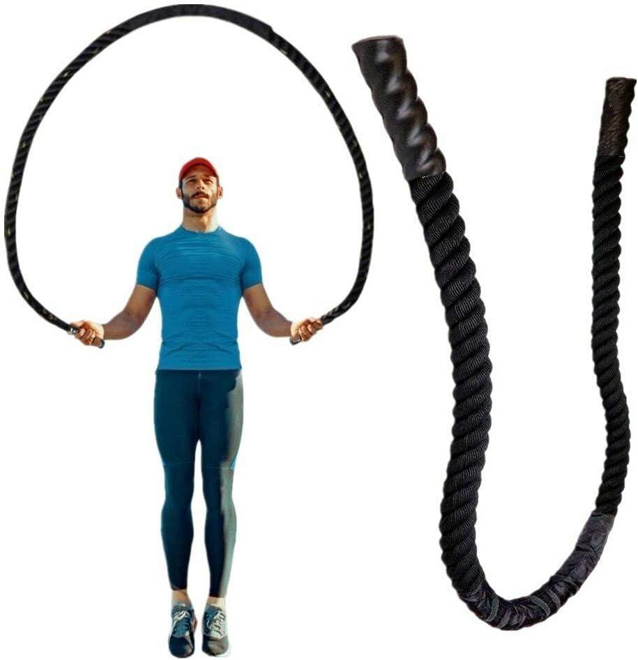25mm*2.8m No nulo mango antideslizante Cuerda de saltar pesada cuerdas de batalla para hombres y mujeres como se muestra en la imagen AmandaJ