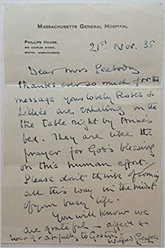 Autographed Letter Signed On Massachusetts General Hospital