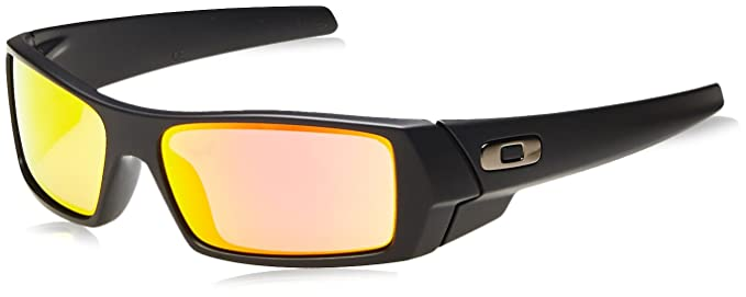 bf72c333ec ... spain oakley mens gascan 26 244 iridium polarized rectangular  sunglasses matte black ice 2d4aa a3305
