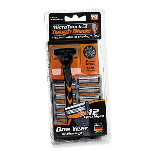New! MicroTouch Tough Blade Razor with 12 Cartridges As Seen On TV!!!