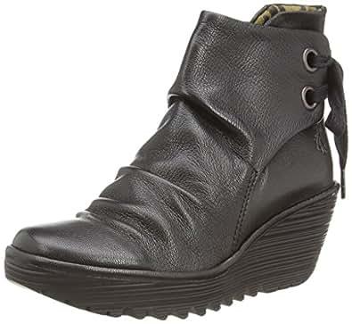 Fly London Yama - Botas para mujeres, color negro (black 033), talla 37 EU (4 UK)