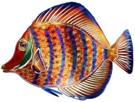 Next Innovations WA3DMANGELFISHSTRIPE CB Angelfish Stripe Refraxions 3D Wall Art