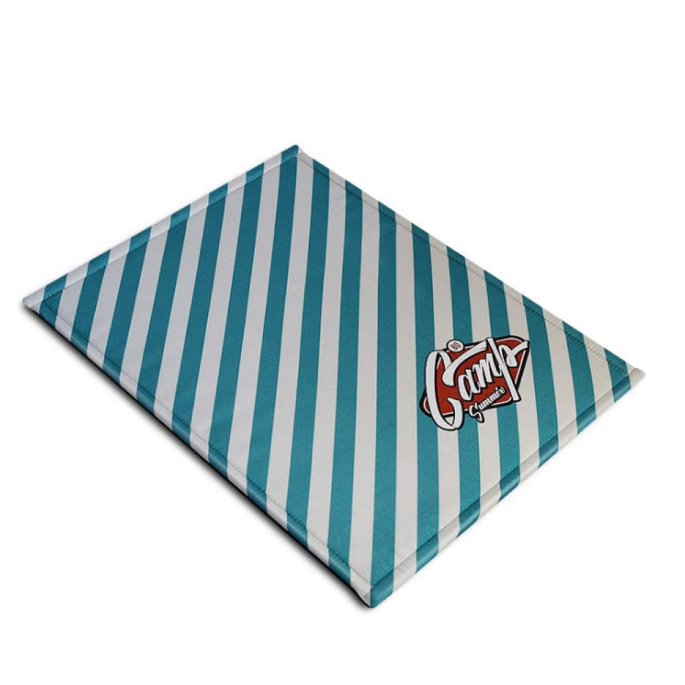 bluee Large bluee Large yffsfzk Piercing Dog Mat Summer Pet Mat Dog Mat Mat Kennel Season Dog Pad,bluee-L