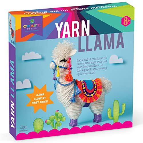 Craft-tastic - Yarn Llama Kit - Craft Kit Makes 1 Yarn-Wrapped Llama