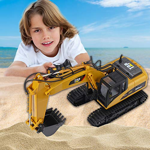 Top Race 15 Channel Full Functional Remote Control Excavator Construction Tractor, Excavator Toy with 2.4Ghz Transmitter and Metal Shovel - TR 211 by Top Race (Image #3)