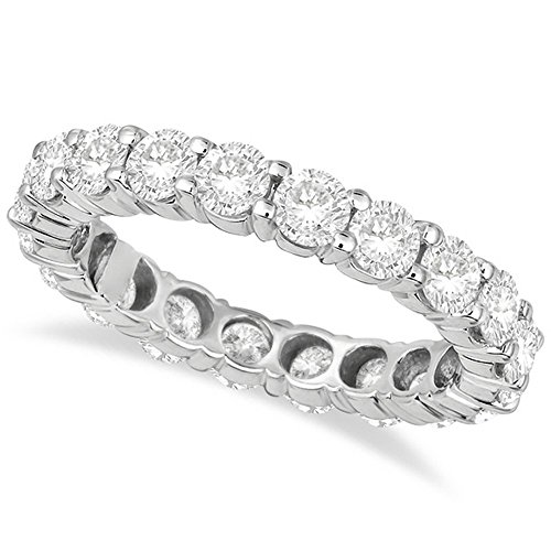 18k White Gold Diamond Wedding Band - Diamond Eternity Ring Wedding Band 18k White Gold (3.00ct)