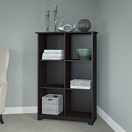 Cabot 6 Cube Bookcase in Espresso Oak by Bush Furniture