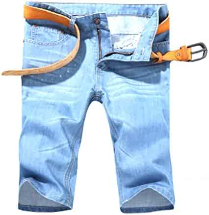0f3b6748 Coolred-Men Summer Cool Straight Casual Loose Denim Cotton Half Pants