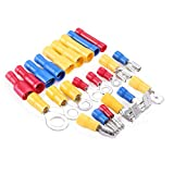 480Pcs Assorted Insulated Electrical Wire Terminals Crimp Connectors Spade Set Red Yellow Blue