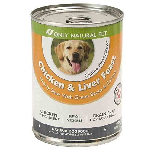 Only Natural Pet PowerStew Grain-Free, Premium Wet Canned Dog Food, Chicken & Liver Feast 13 oz Cans (Case of 12)