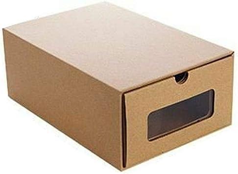 Loriver 1pc Cajón Caja de Zapatos Organizador de Papel Kraft Botas ...