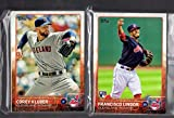2015 Topps Series 1 & 2 & Update Cleveland Indians Team Set 31 Cards
