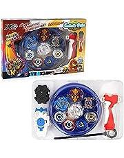 3T6B snurrar med Launcher Set, 4 Gyro Spinners och 2 Turbo Burst och Battle Disc Set, för födelsedagsresa för barn